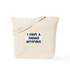 SNAKE attitude Tote Bag