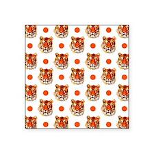 Tiger Pattern, Orange White Polka Dots Sticker