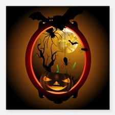"Halloween Square Car Magnet 3"" x 3"""