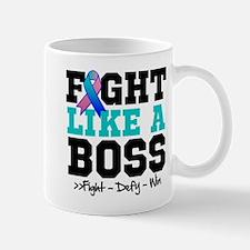 Thyroid Cancer Fight Like a Boss Mug