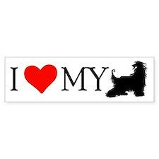 I Love my Afghan Hound Bumper Car Sticker