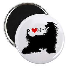 I Love my Afghan Hound Magnet