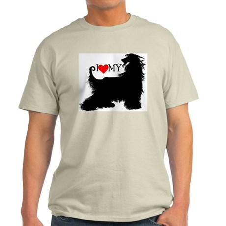 I Love my Afghan Hound Light T-Shirt