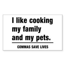 Commas save lives Decal