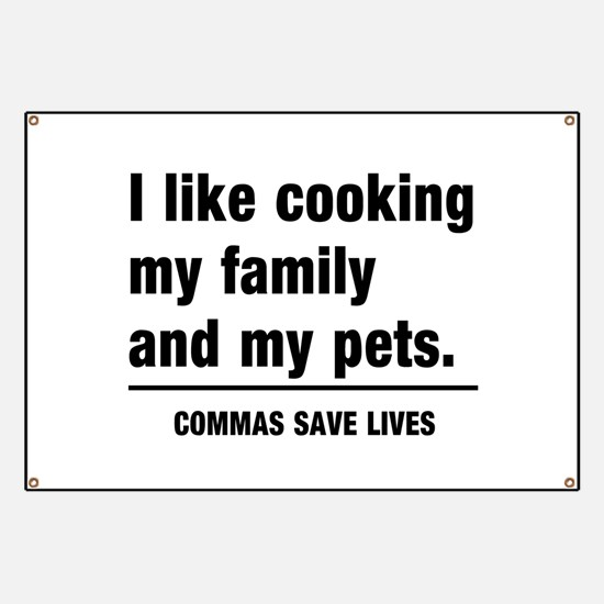 Commas save lives Banner