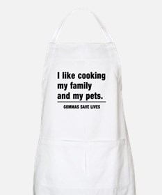 Commas save lives Apron