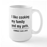 Comma Large Mugs (15 oz)