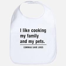 Commas save lives Bib