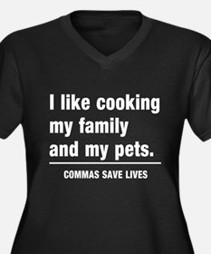 Commas save lives Plus Size T-Shirt