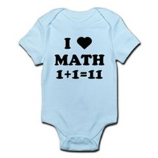 I heart math 1 + 1 = 11 Body Suit