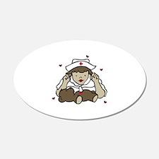 Teddy Bear Nurse Wall Decal
