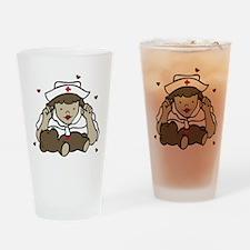 Teddy Bear Nurse Drinking Glass