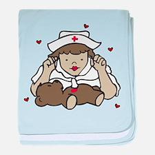 Teddy Bear Nurse baby blanket