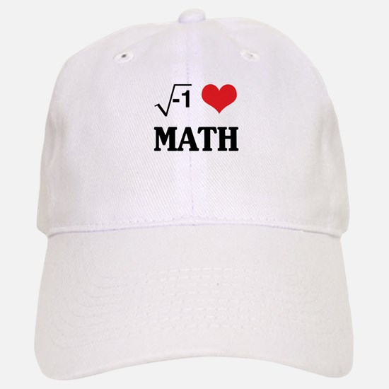 I heart math Baseball Baseball Baseball Cap