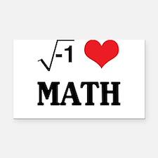 I heart math Rectangle Car Magnet