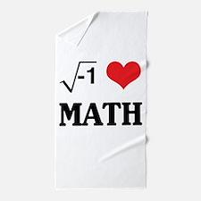 I heart math Beach Towel