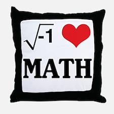 I heart math Throw Pillow