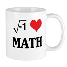 I heart math Mugs