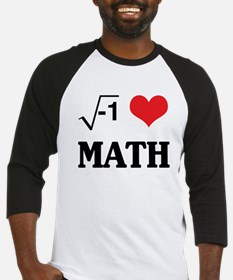 I heart math Baseball Jersey
