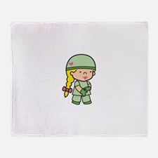 Future Army Doctor Throw Blanket