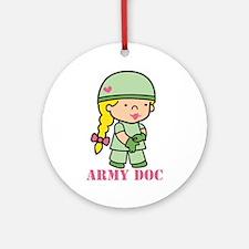 Army Doc Ornament (Round)