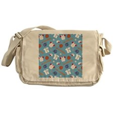 baseball-pattern-cafepress Messenger Bag