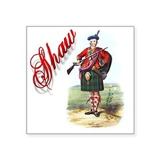 "Clan Shaw Square Sticker 3"" x 3"""