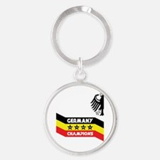 Champions of the World Round Keychain