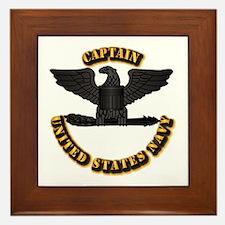 Navy - Captain - O-6 - w Text Framed Tile