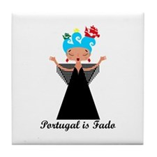 Portugal is fado Tile Coaster