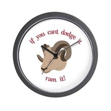If You Cant Dodge It Ran It! Wall Clock