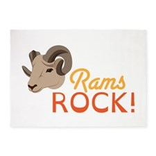 Rams Rock! 5'x7'Area Rug