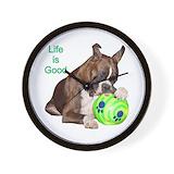 Brindle boxers dogs Basic Clocks
