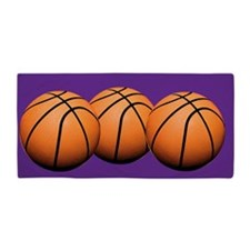 Basketballs Beach Towel