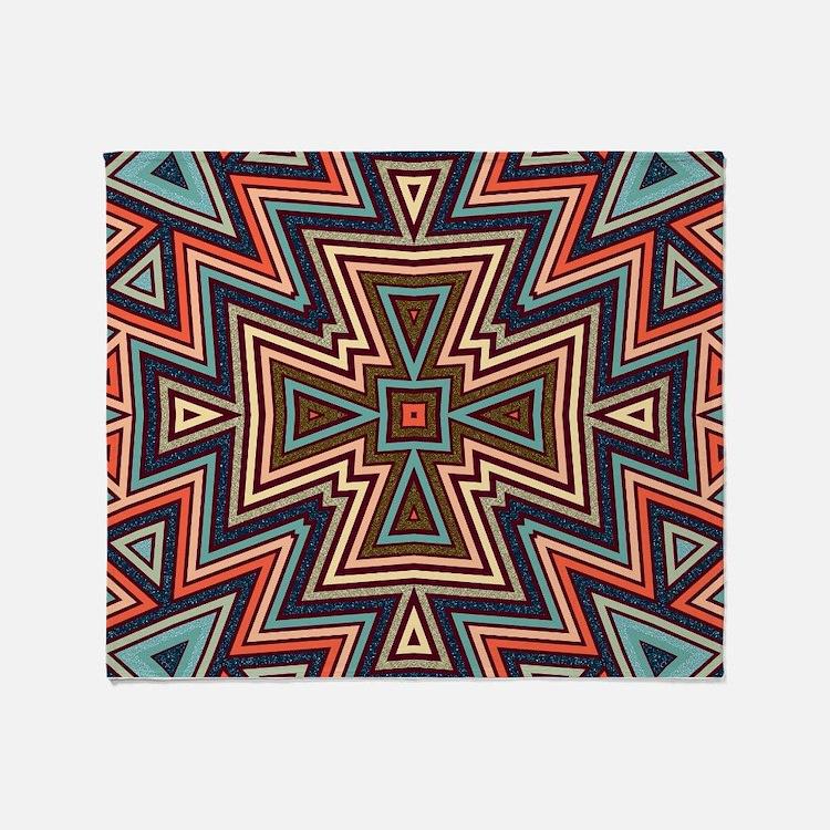 Cute Geometric Throw Blanket