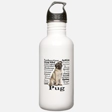 Pug Traits Water Bottle