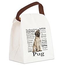 Pug Traits Canvas Lunch Bag