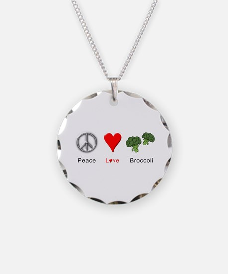 Peace Love Broccoli Necklace