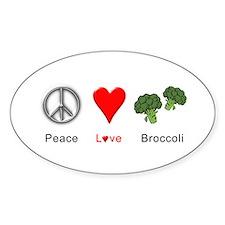 Peace Love Broccoli Decal