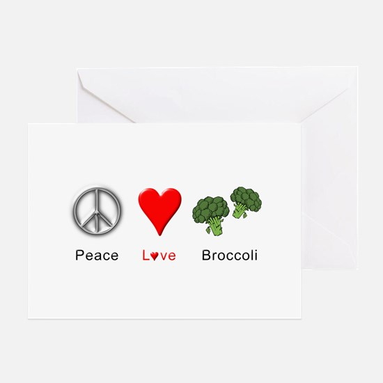 Peace Love Broccoli Greeting Card