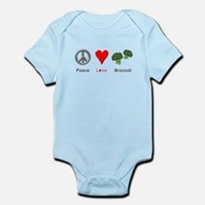 Peace Love Broccoli Infant Bodysuit