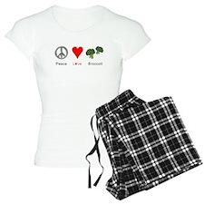 Peace Love Broccoli Pajamas