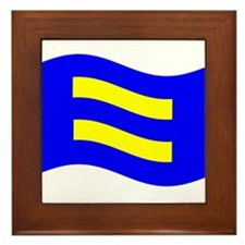 Waving Human Rights Equality Flag Framed Tile