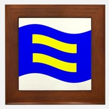 Waving Human Rights Equality Flag Framed Tile