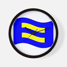 Waving Human Rights Equality Flag Wall Clock