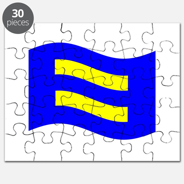 Waving Human Rights Equality Flag Puzzle