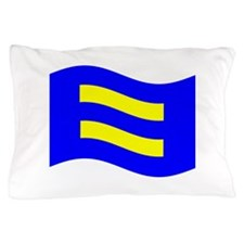 Waving Human Rights Equality Flag Pillow Case