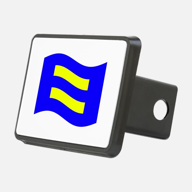 Waving Human Rights Equality Flag Hitch Cover
