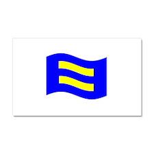 Waving Human Rights Equality Flag Car Magnet 20 x