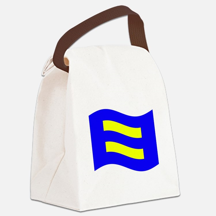 Waving Human Rights Equality Flag Canvas Lunch Bag
